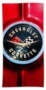 C2 Corvette Logo Beach Towel