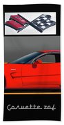 C5 Corvette Zo6 'profile' I Beach Towel