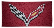 C7 Badge Red Beach Towel