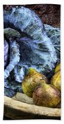 Cabbage And Figs Beach Towel