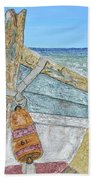 Cabbing Skiff  Beach Towel