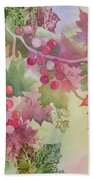Cabernet Beach Towel by Deborah Ronglien