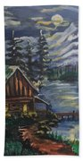 Cabin In The Mountains Beach Sheet