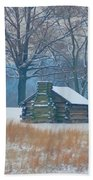 Cabin In The Snow - Valley Forge Beach Towel