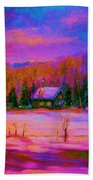 Cabin In The Woods Beach Towel
