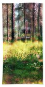 Cabin In The Woods In Menashe Forest Beach Towel