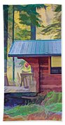 Cabin In The Woods Beach Sheet