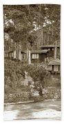 Cabins At Carmel Highlands Inn Circa 1930 Beach Towel