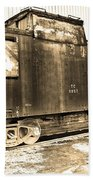 Caboose Black And White Beach Towel