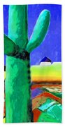 Cactus By Nixo Beach Towel