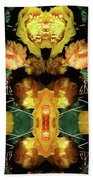 Cactus Flower 08-005 Abstract Beach Towel