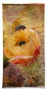 Cactus Spring Beauty W Frame Beach Towel