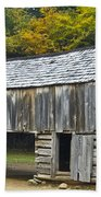 Cades Cove Barn Beach Towel