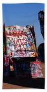 Cadillac Ranch On Route 66 Beach Towel