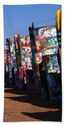 Cadillac Ranch Route 66 Beach Towel