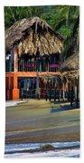 Cafe Beach Bucerias Mexico Beach Towel