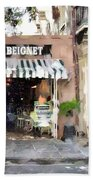 Cafe Beignet Summer Day Beach Towel