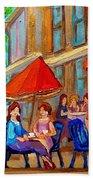 Cafe Casa Grecque Prince Arthur Beach Towel