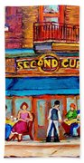 Cafe Second Cup Terrace Beach Towel