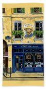 Cafe Van Gogh Beach Towel
