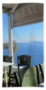 Cafe' With A View Beach Towel
