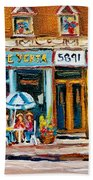 Cafe Yenta And Ma's Place Beach Towel