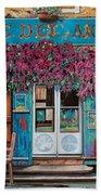 caffe del Aigare Beach Towel by Guido Borelli