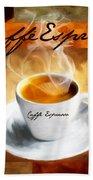 Caffe Espresso Beach Towel by Lourry Legarde