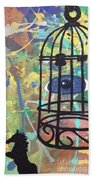 Caged Vision  Beach Towel
