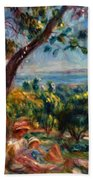 Cagnes Landscape With Woman And Child 1910 Beach Towel