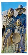 Cahuilla Band Of Agua Caliente Indians Sculpture On Tahquitz Canyon Way In Palm Springs-california Beach Towel