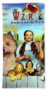 Cairn Terrier Art Canvas Print - The Wizard Of Oz Movie Poster Beach Towel
