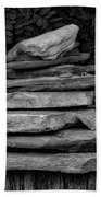 Cairns Rock Trail Marker Bluff Utah 01 Bw Beach Towel
