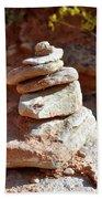 Cairns Rock Trail Marker Colorado Plateau Kanab Utah 01 Beach Towel