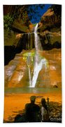 Calf Creek Falls Utah Beach Towel