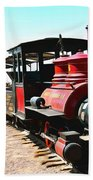 Calico And Odessa Rail Road Beach Towel