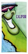 California Christmas Beach Towel