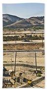 California Oil Field 14pdxl084 Beach Towel