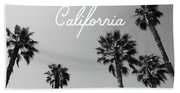 California Palm Trees By Linda Woods Beach Towel