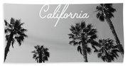 California Palm Trees By Linda Woods Beach Sheet