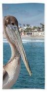 California Pelican Beach Towel by John Wadleigh