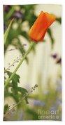 California Poppies In The Garden Beach Towel