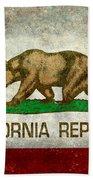 California Republic State Flag Retro Style Beach Towel
