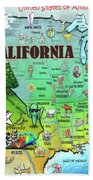 California Usa Beach Towel