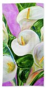 Calla Lillies 3 Beach Towel