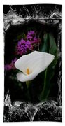 Calla Lily Splash Beach Towel