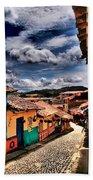 Calle De Colores Beach Towel