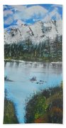 Calm Lake Beach Towel