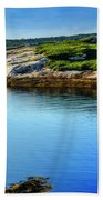 Calm Water At Peggys Cove #3 Beach Towel