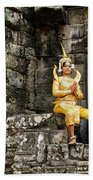 Cambodian Dancers At Angkor Thom Beach Towel